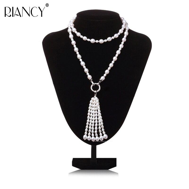 [해외]Fashion Long Multilayer Pearl Necklace Freshwater Pearl Tassel Mix Colour Pearl Necklace Jewelry For Women wedding/Fashion Long Multilayer Pearl N