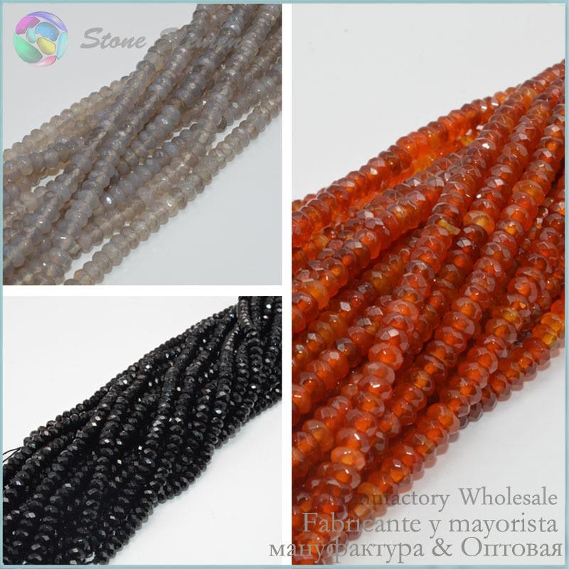 [해외] Red / Grey / Black Agate Faceted Rondelle / Roundell Beads 6x3mm 130 Beads / Strand/ Red / Grey / Black Agate Faceted Rondelle / Roundell Beads 6