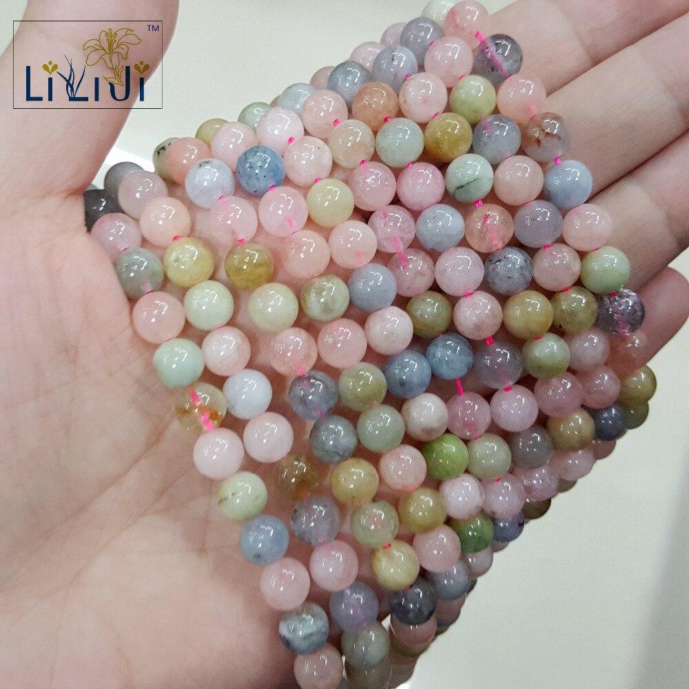 [해외]Lii Ji Morganite Round shape bead 6mm DIY Jewelry Making Necklace or Bracelet Approx 39cm/Lii Ji Morganite Round shape bead 6mm DIY Jewelry Making