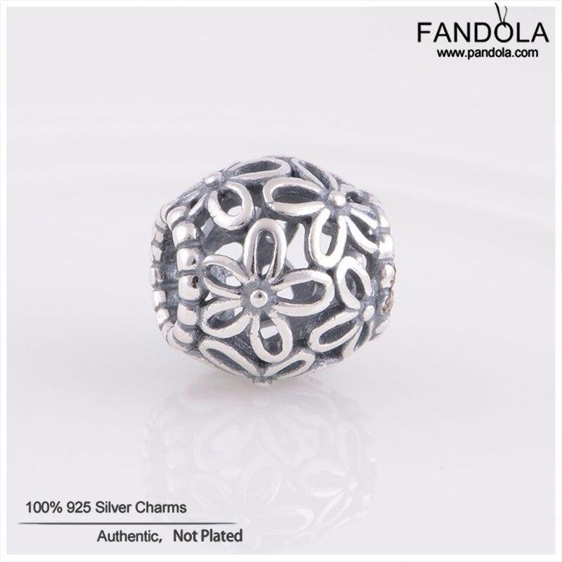 [해외]Authentic 925 Sterling Silver Wildflower Walk Charm Beads Fits Brand Bracelets DIY Jewelry for Women Berloque/Authentic 925 Sterling Silver Wildfl