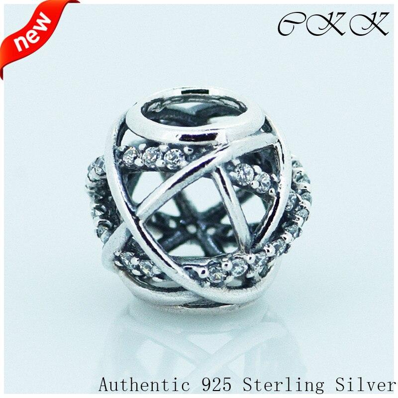 [해외]Beads 100% 925 Sterling Silver Galaxy Openwork Beads Charm Beads for Jewelry Making Fit Bracelets DIY FL106/Beads 100% 925 Sterling Silver Galaxy