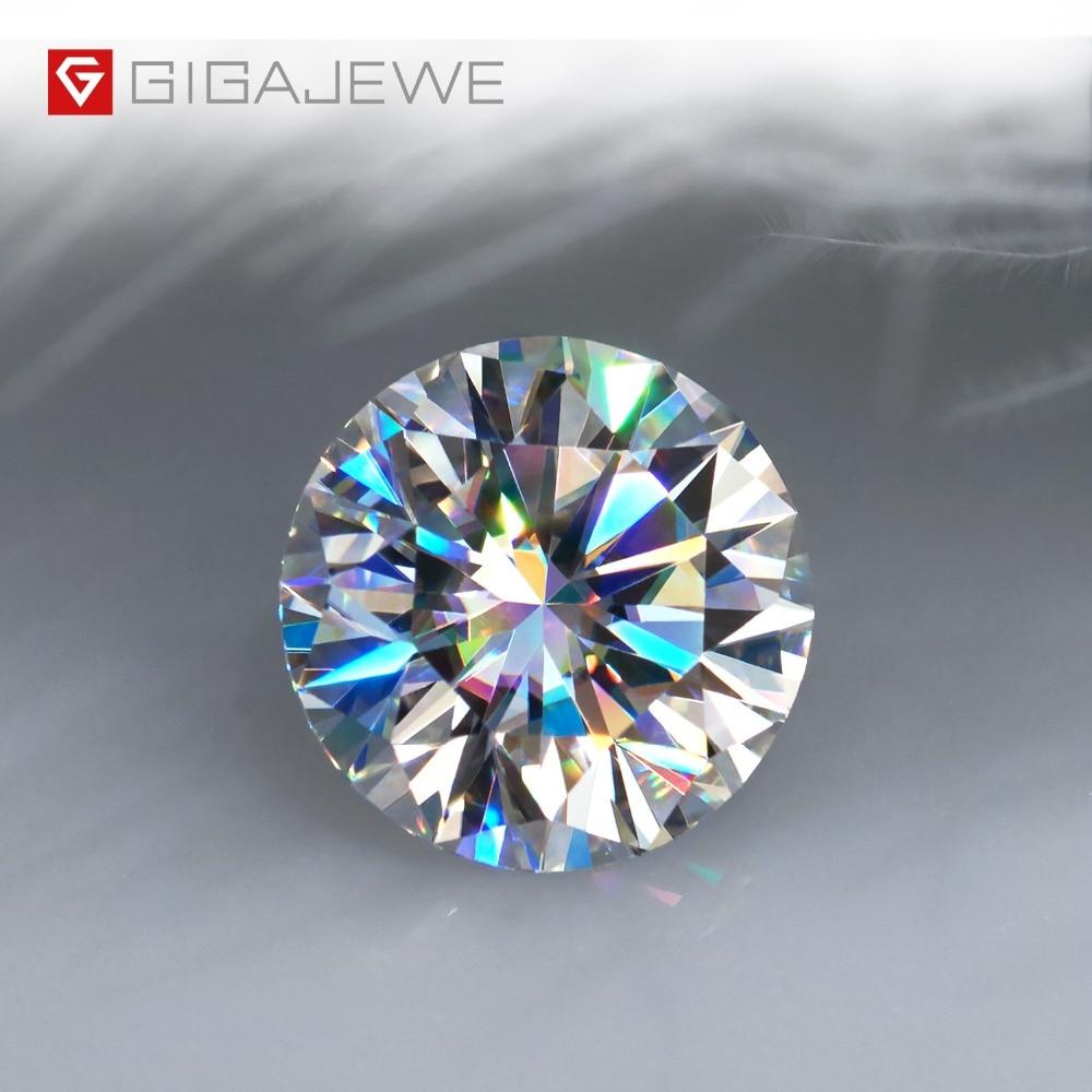 [해외]Gigajewe d 색깔 1-3ct vvs1 둥근 moissanite 느슨한 다이아몬드 시험은 보석 만들기를위한 증명서 실험실 보석을 가진 최고 품질을 통과했다/Gigajewe d 색깔 1-3ct vvs1 둥근 moissanite 느슨한 다이아