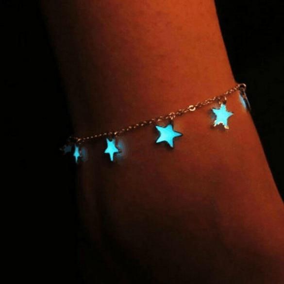 [해외]빛나는 구두 유럽과 미국 스타일의 해변 flourescent 블루 5 포인트 스타 tassled 구두 jiao shi pin ankle ring jewelr/빛나는 구두 유럽과 미국 스타일의 해변 flourescent 블루 5 포인트 스타 ta