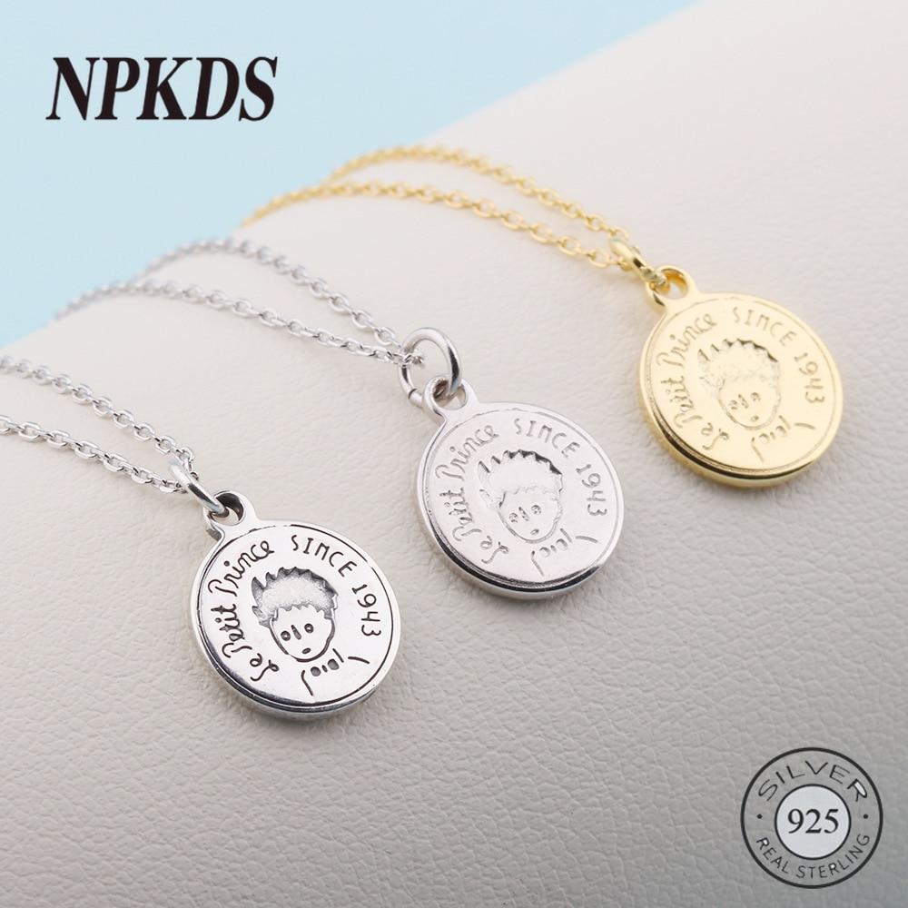 [해외]925 Sterling Silver Little Prince Charm Figure Round Pendant Charm for DIY Bracelets&necklace&bracelets&bangles Jewelry Making/925 Sterl