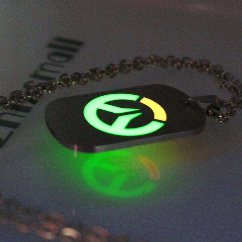 [해외]Overwatch necklace 백열 목걸이 목걸이 펜던트 overchatch keyChain 어둠의 여성 목걸이에 패션 주얼리 펜던트 빛나는/Overwatch necklace glowing Necklace Pendants Overwatch keyChain F