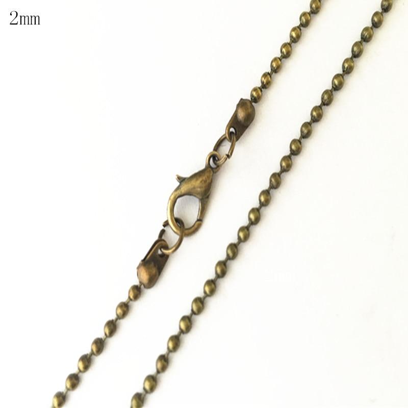 [해외]5pcs/lot 2mm antique bronze ball necklace chainlobster clasp pendant accessories pocket watch chain 20inches/5pcs/lot 2mm antique bronze ball neck