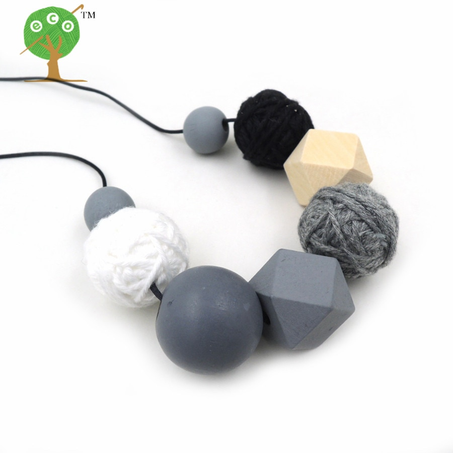[해외]2018 new crochet voodoo ball necklace beaded necklace cotton for women fiber light jewelry 25mm woven black coffee NW212/2018 new crochet voodoo b