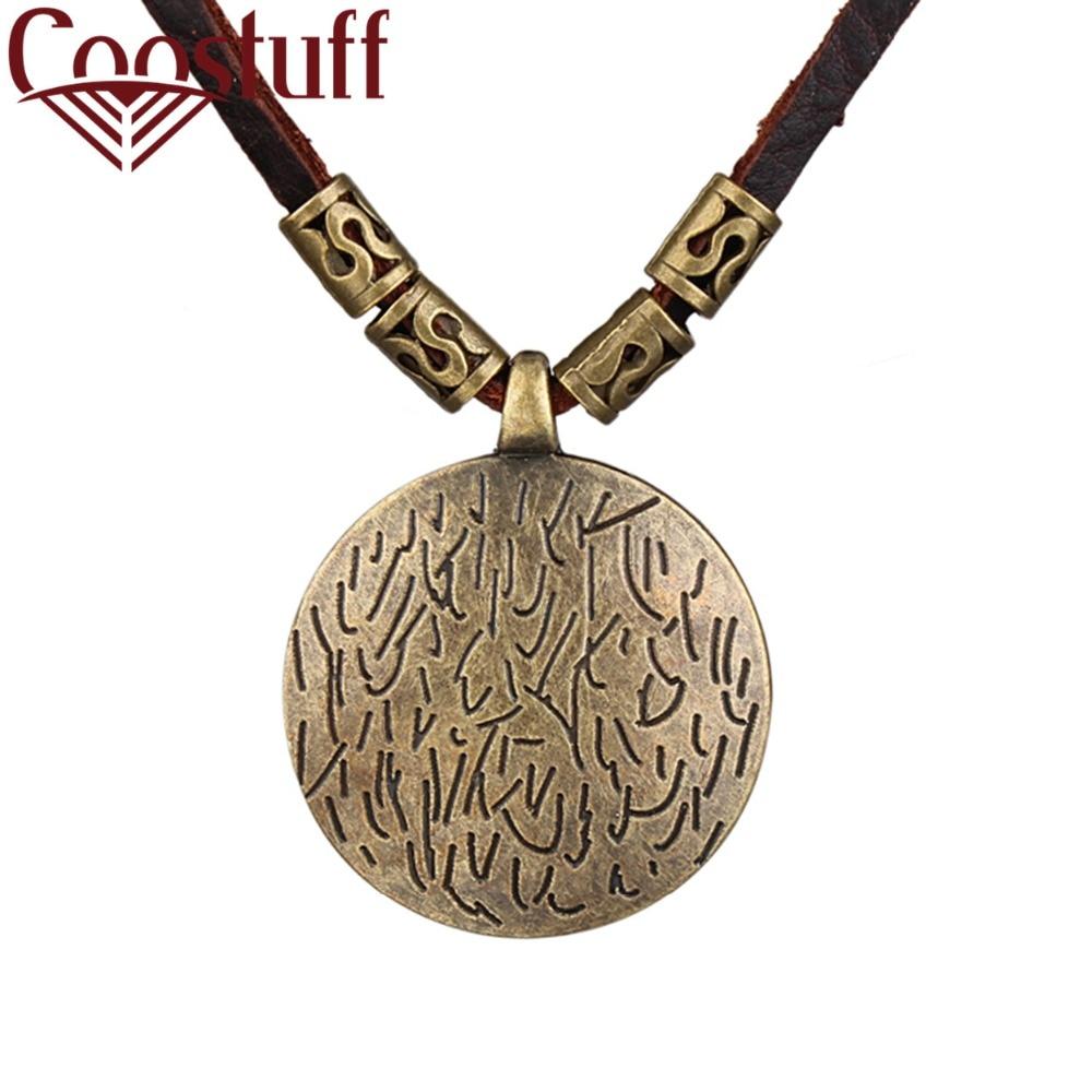 [해외]2018 Wholesale Vintage Women Jewelry choker necklace colar Long Genuine Leather statement necklace Woman collier kolye collares/2018 Wholesale Vin