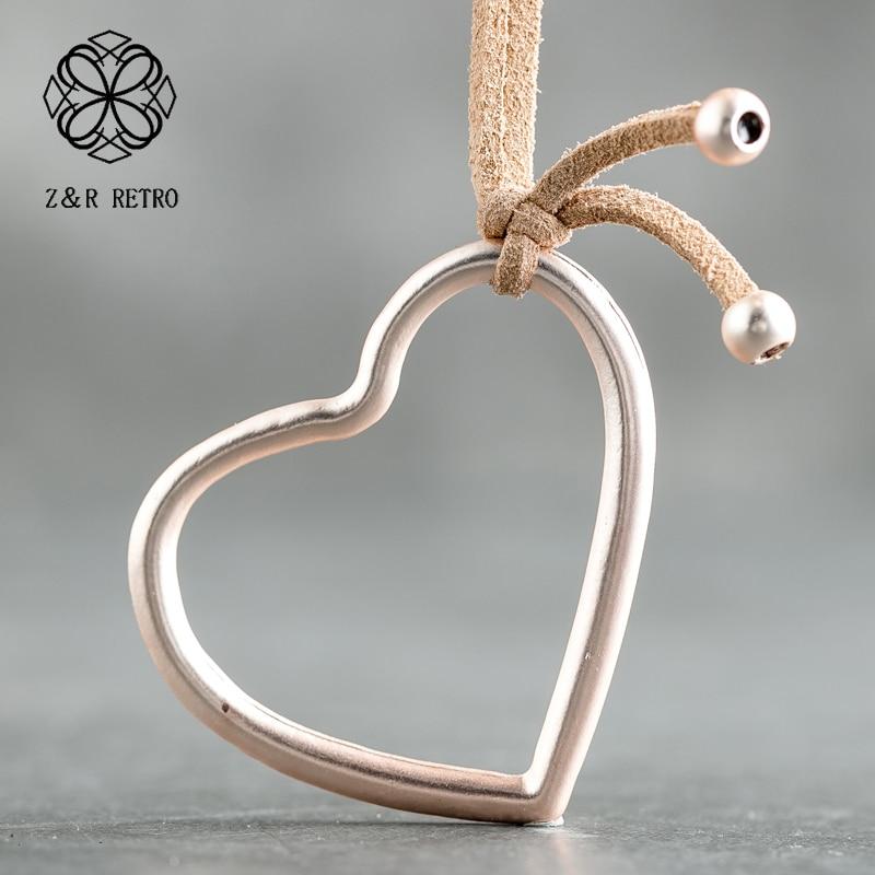 [해외]Heart Pendant Necklaces Rope Necklace Sweater Chain Jewelry 2018 Fashion Long Necklaces Charm Heart Women Colier New Gifts /Heart Pendant Necklace