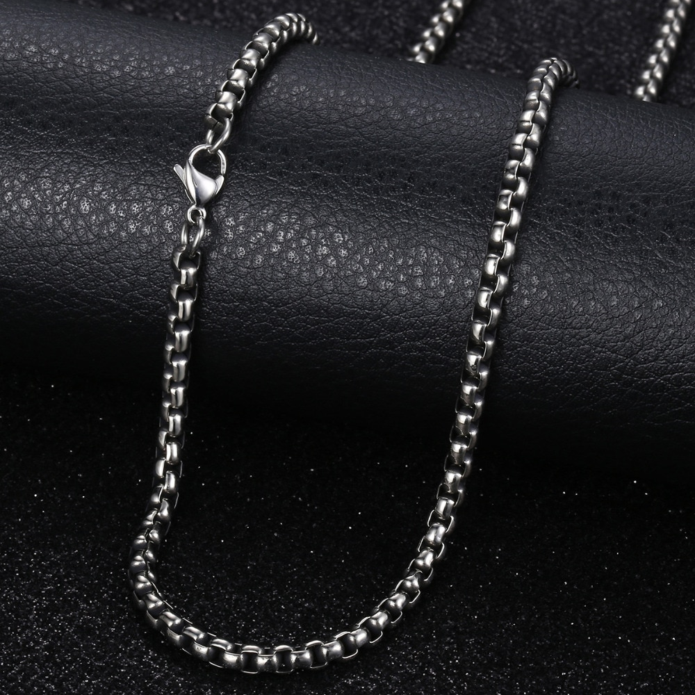 [해외]Stainless Steel Necklace For Men Women Gunmetal Box Chain Mens Necklace Chains Dropshipping Jewelry Male Gift 18-28inch LKN223/Stainless Steel Nec