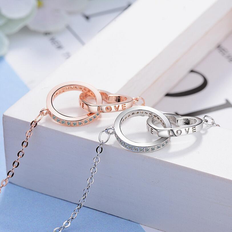 [해외]Heart Round Shape Pendant Necklaces For Women Love Heart Necklaces Crystal Rhinestone Choker NecklaceLove Letter Jewelry/Heart Round Shape Pendant