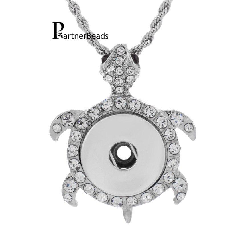 [해외]10pcs/lot metal Tortoise Pendant fit 18/20mm snaps crystal turtle jewelry ginger snaps buttons necklace charm KB0154*10/10pcs/lot metal Tortoise P