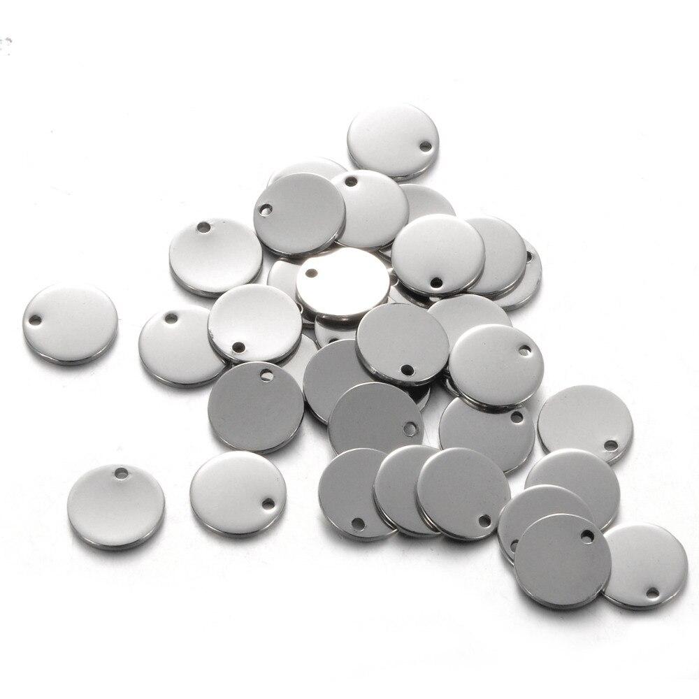 [해외]LASPERAL 100PCs Stainless Steel Stamping Blanks Charms For Jewelry Making Charm DIY Accessories For Letter 10mm Round Dog Tags/LASPERAL 100PCs Sta