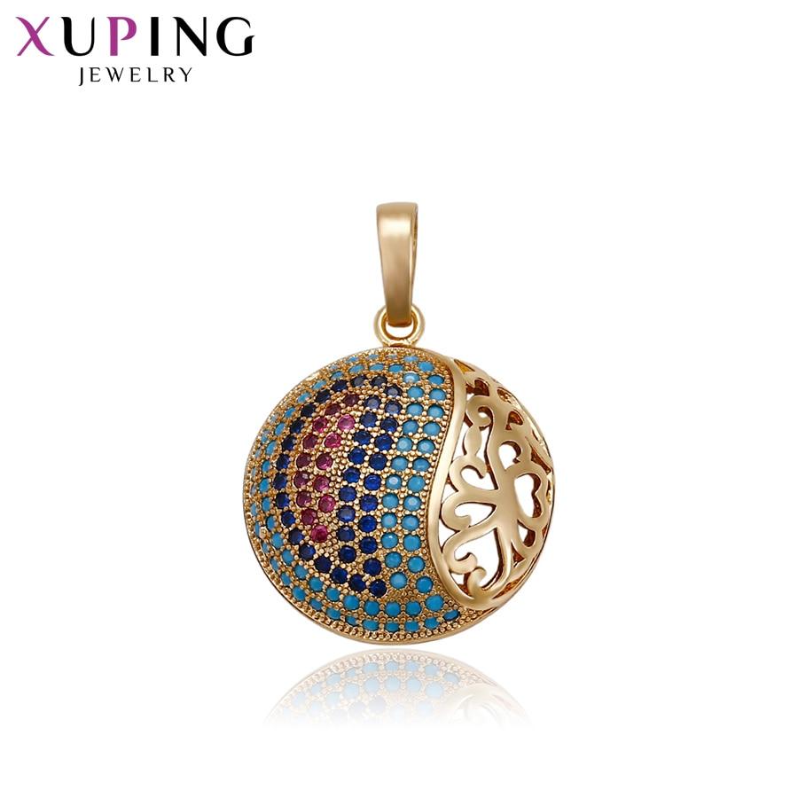 [해외]Xuping Fashion Round Shape Necklace PendantGold Color Plated for Women Thanksgiving Jewelry Gifts S72,1-33084/Xuping Fashion Round Shape Necklace