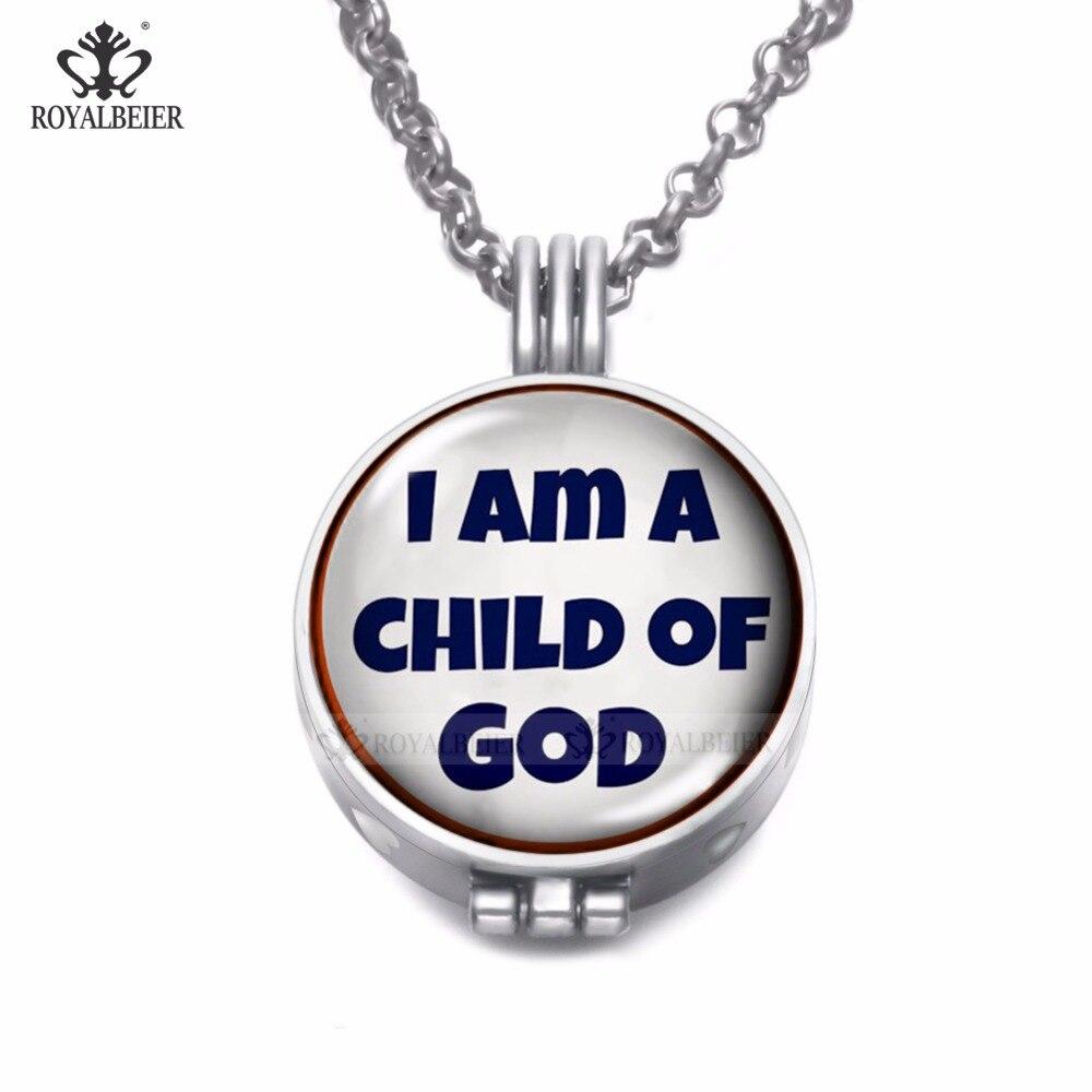 [해외] RoyalBeier Child Joy Theme Perfume Aroma Essential Oil Diffusion Pendant Necklace 25mm Glass Charm Chain 80cm DZ1842/ RoyalBeier Child Joy Theme
