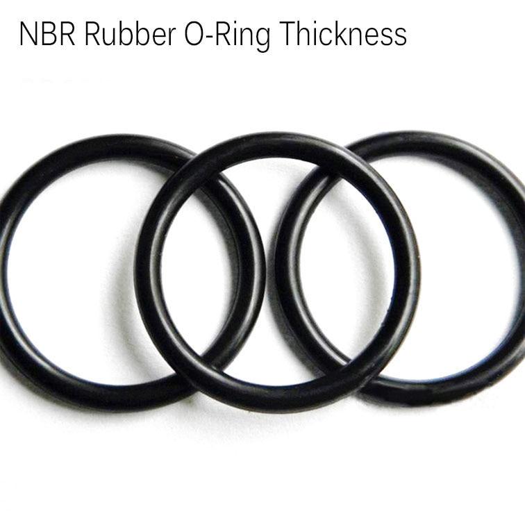 [해외]CS3.5mm line dia OD38/39/40/42/43/44/45/46/47mm outer dia NBR Nitrile rubber O-Ring seal o shape pipe tube fuel oil gasket/CS3.5mm line