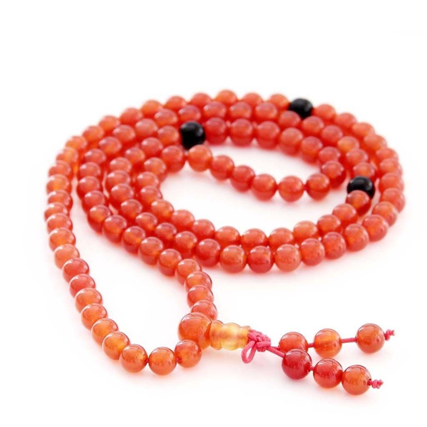 [해외]/6mm 108 New Red  Beads Bracelet Meditation Chakas Buddhism cuff MONK elegant Hot Wristband DIY Wrist fengshui Ruyi Cheaply