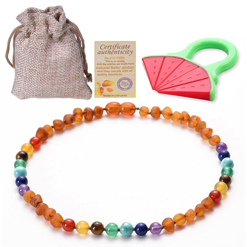 [해외]Baltic Ambers Teething Necklace for Babies Chakra and Ambers Bead Handmade-Teething Pain Relief GIA Certificated Natural Jewelry/Baltic Ambers Tee