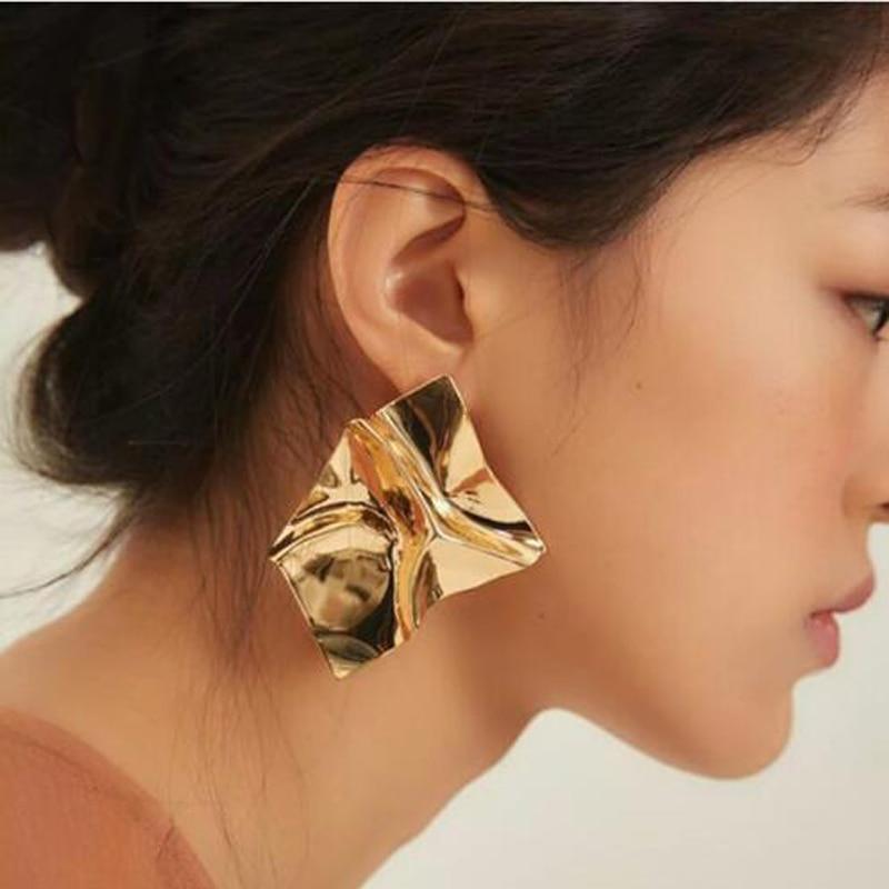 [해외]Bestessy 펑크 골드 / 실버 도금 기하학 문장 여성을금속 패션 스터드 귀걸이 유행 매력 Boho 쥬얼리/Bestessy  Punk Gold/Silver Plated Geometric Statement Metal Fashion Stud Earrings Fo