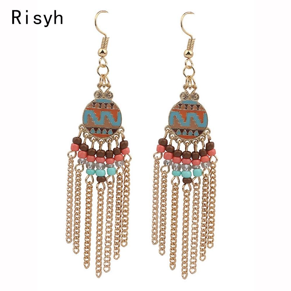 [해외]Risyh 2019 new fashion dripping tassel trend ladies earrings for women`s gifts/Risyh 2019 new fashion dripping tassel trend ladies earrings for wo