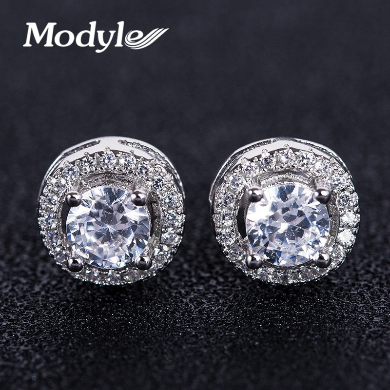 [해외]Modyle 2018 New Fashion Hearts & Arrows cut Top Quality 0.75 carat AAA+ CZ Stone Stud Earrings for Women/Modyle 2018 New Fashion Hearts &