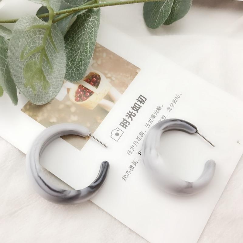 [해외] Fashion Gray C Shaped Stud New Design Pretty Earring / Fashion Gray C Shaped Stud New Design Pretty Earring