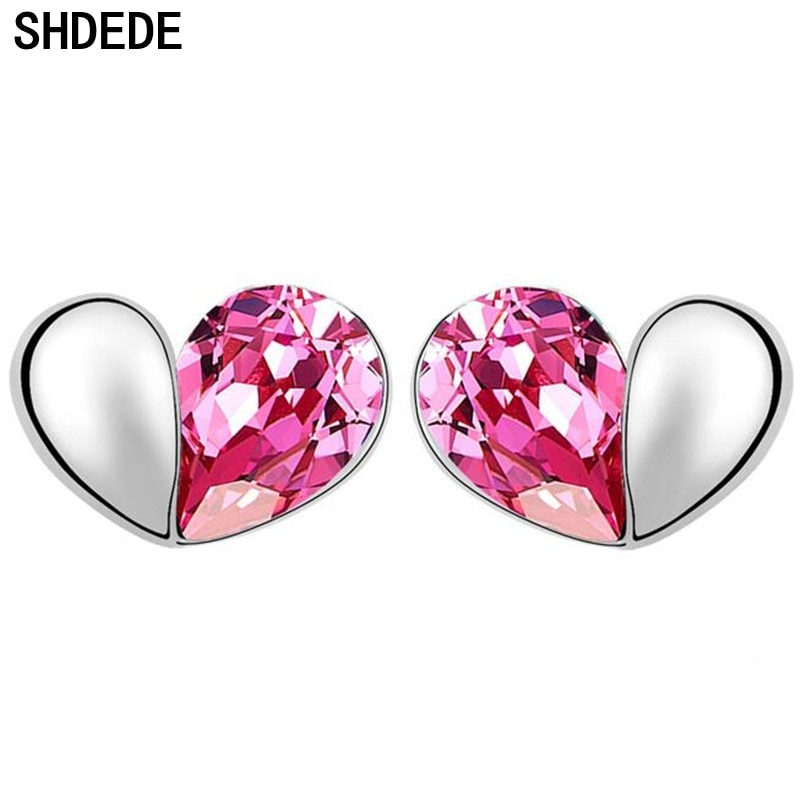 [해외]SHDEDE Heart Crystal from Swarovsk Fashion Jewelry Stud Earring Women Gift Bride Wedding Accessories -5396/SHDEDE Heart Crystal from Swarovsk Fash