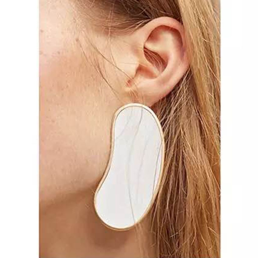 [해외]2018 Baroque fashion earrings geometric court retro leaf wild catwalk earrings 1018/2018 Baroque fashion earrings geometric court retro leaf wild