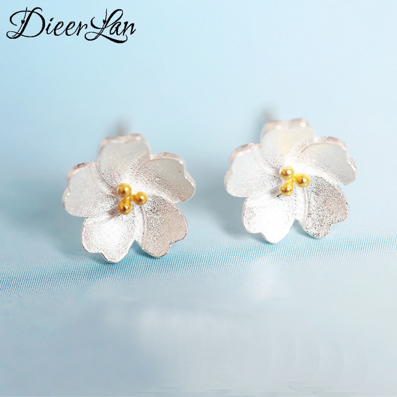 [해외]2017 New Arrivals 925 Sterling Silver Flower Earrings For Women Fashion Jewelry sterling-silver-jewelry pendientes/2017 New Arrivals 925 Sterling