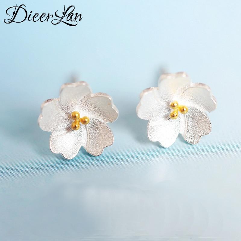 [해외]2017 New Arrivals 925 Sterling Silver Flower Earrings For Women Fashion Jewelry sterling-silver-jewelry pendientes/2017 New Arrivals 925 Sterling
