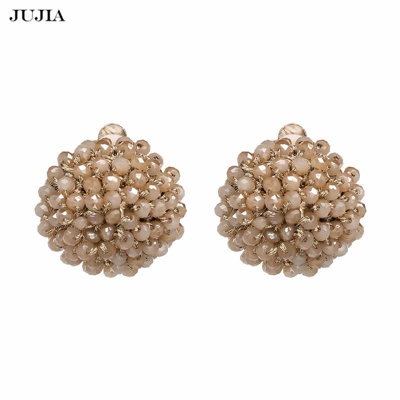 [해외]JUJIA Fashionable Stud Earrings Beads Handmade Jewelry Crystal Beaded Earrings For Women Gift oorbellen/JUJIA Fashionable Stud Earrings Beads Hand