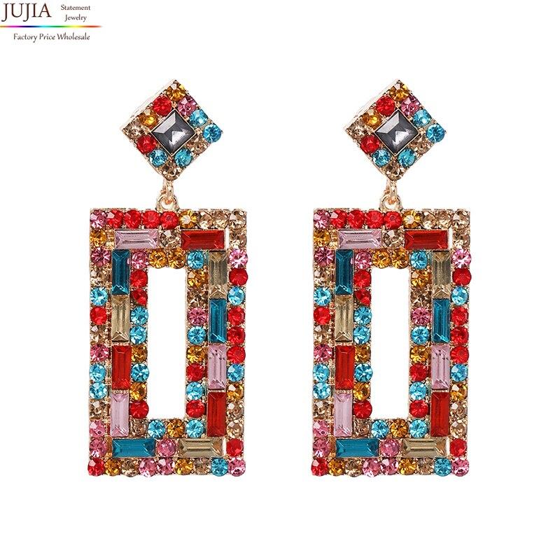 [해외]New 2019 fashion jewelry women crystal vintage statement stud Earrings for women jewelry Factory Price whole/New 2019 fashion jewelry wo