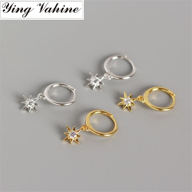 [해외]ying Vahine New Arrival 100% 925 Sterling Silver Mini Zircon Star Pendant Small Stud Earrings for Women Free Shipping/ying Vahine New Ar