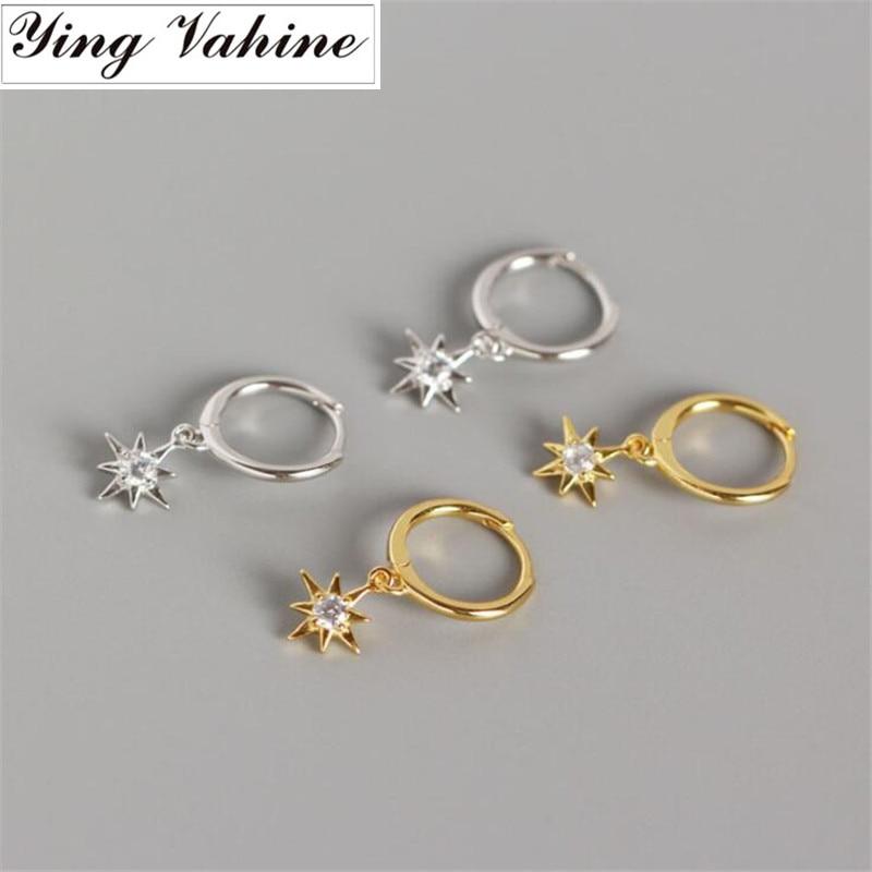 [해외]ying Vahine New Arrival 100% 925 Sterling Silver Mini Zircon Star Pendant Small Stud Earrings for Women Free Shipping/ying Vahine New Ar