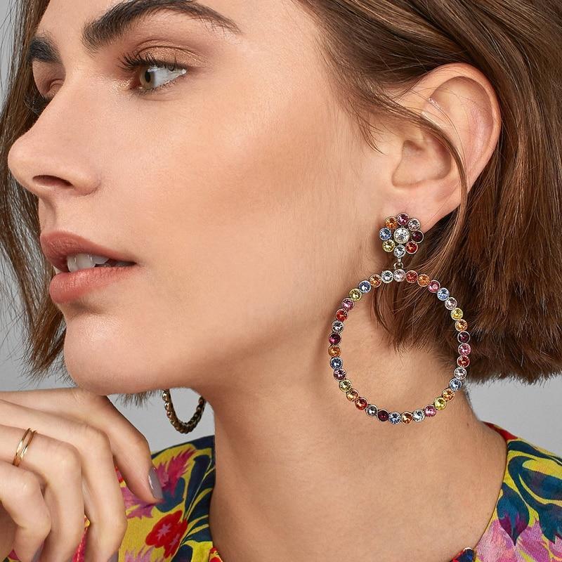 [해외]JUJIA 20 designs wholesale New vintage crystal earrings fashion women statement crystal dangle ZA Earrings for women/JUJIA 20 designs wholesale Ne