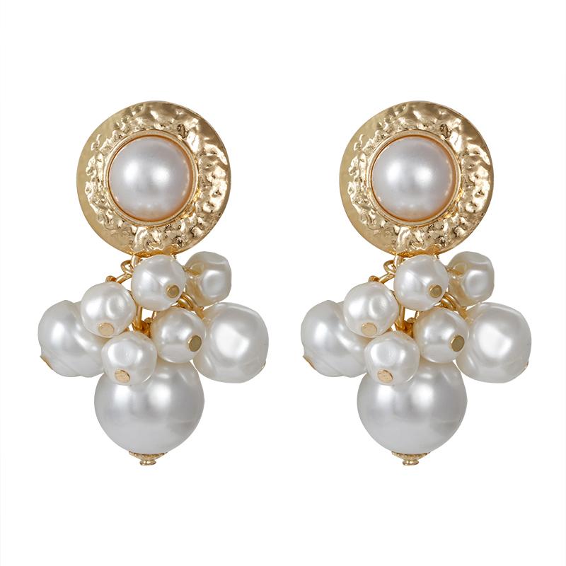 [해외]Amorcome Metal Simulated Pearl Drop Dangle Earrings For Women Female Vintage Exaggeration Earings Fashion Jewelry Accessorries/Amorcome Metal Simu