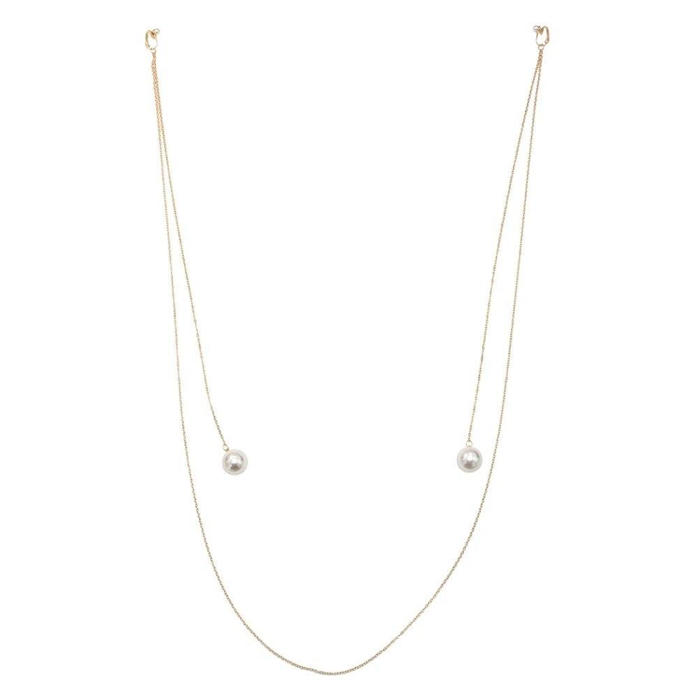 [해외]Bridal Gold Metal Simulated Pearl Tassel Drop Earring Long Fringe Dangle Statement Earrings for Women pendientes Party Jewelry /Bridal Gold Metal