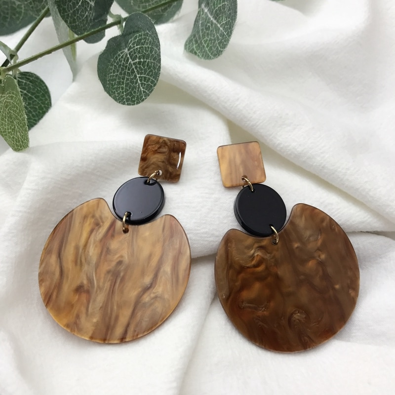 [해외]UJBOX Women Acrylic Resin Drop Earrings Summer Beach Dangle Earring Factory Wholsale/UJBOX Women Acrylic Resin Drop Earrings Summer Beach Dangle E