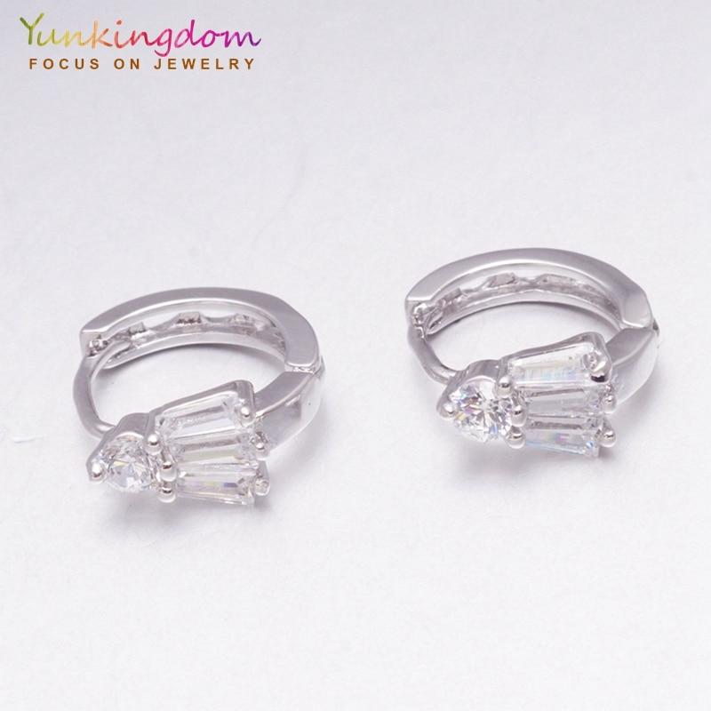 [해외]Yunkingdom wonderful brand original silver color hoop earrings for women fashion jewelry holiday gift wholesale/Yunkingdom wonderful brand origina