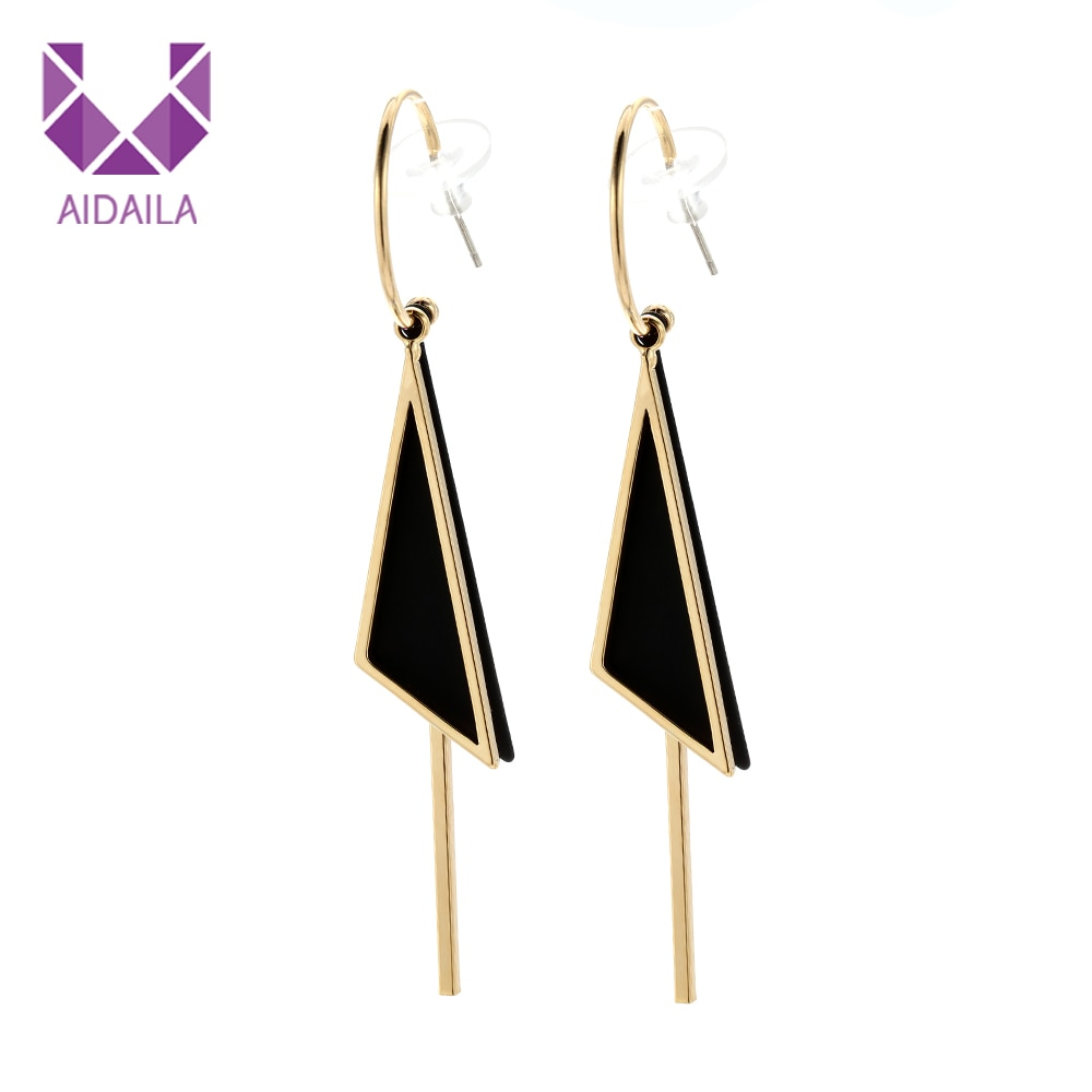 [해외]Women Hoop Earrings Triangle Needle 925 Sterling Silver Office Style /Women Hoop Earrings Triangle Needle 925 Sterling Silver Office Style