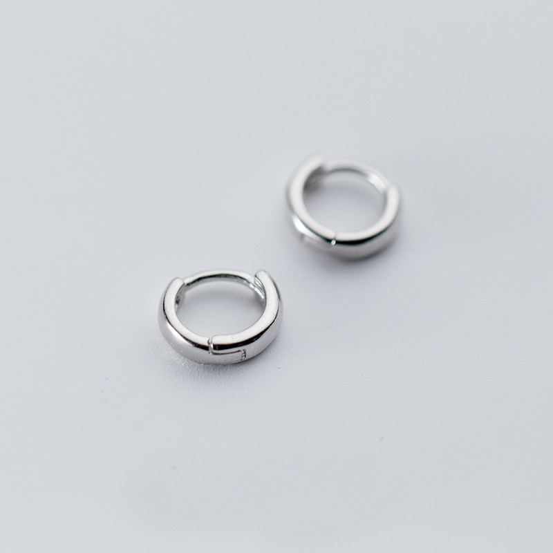 [해외]MloveAcc 100% 925 Sterling Silver Hoop Geometric Ear Earrings for Women Fashion Silver Earings Jewelry/MloveAcc 100% 925 Sterling Silver Hoop Geom