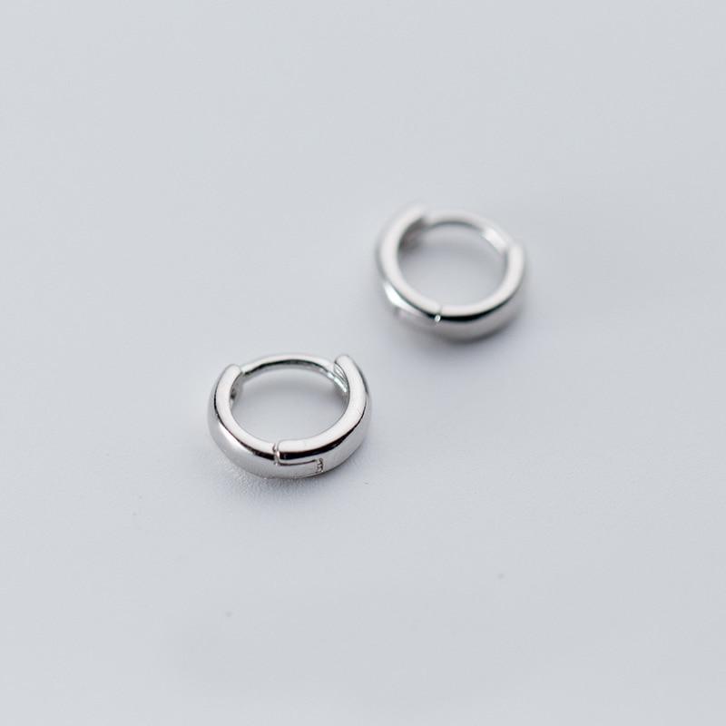 [해외]MloveAcc 100% 925 Sterling Silver Hoop Geometric Ear Earrings for Women Fashion Silver Earings Jewelry/MloveAcc 100% 925 Sterling Silver Hoop Geom
