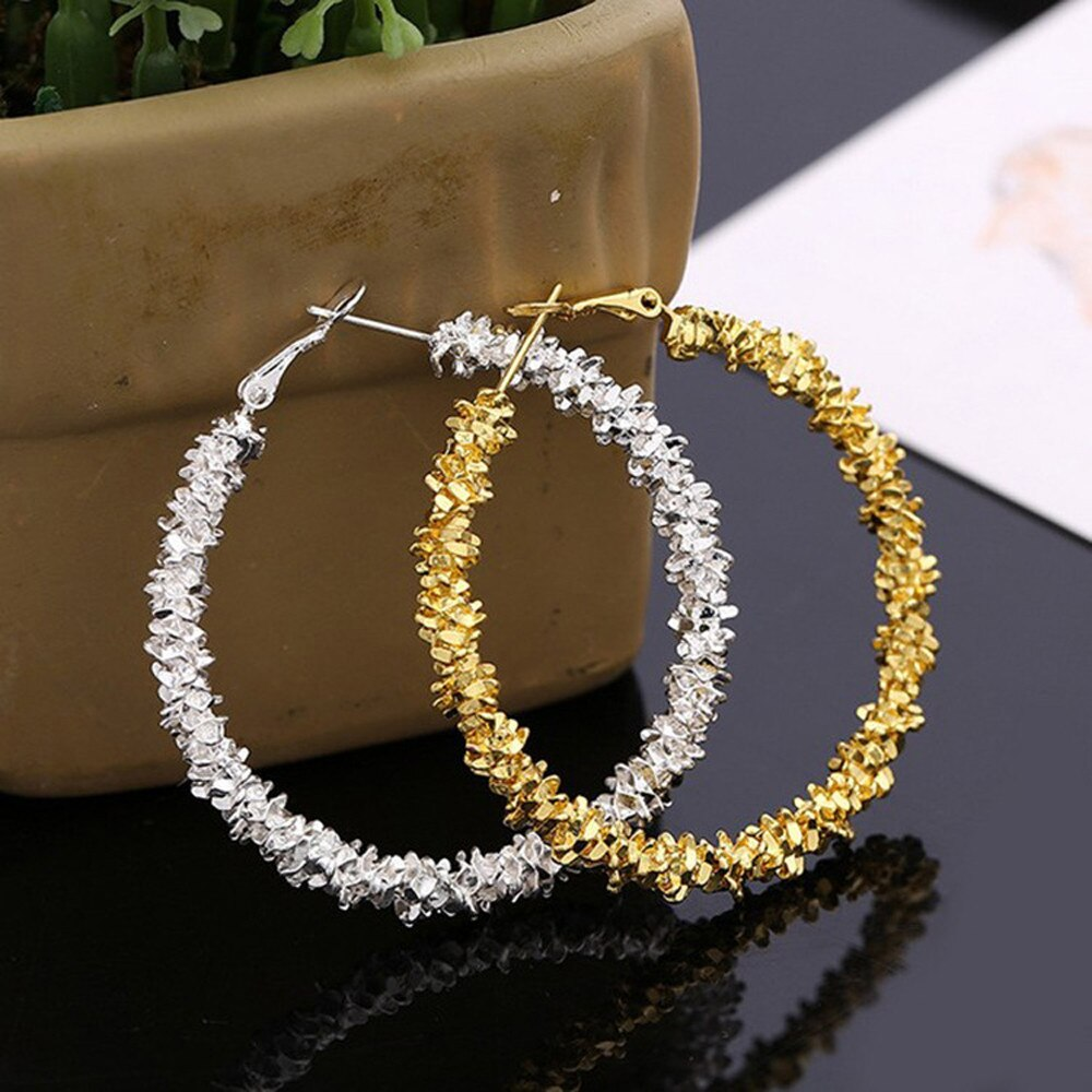 [해외]Women Earring Fashion Irregular Geometric Circle Jewelry Creative Wreath hoop earring trendy earrings 2019 woman earrings/Women Earring Fashion Ir