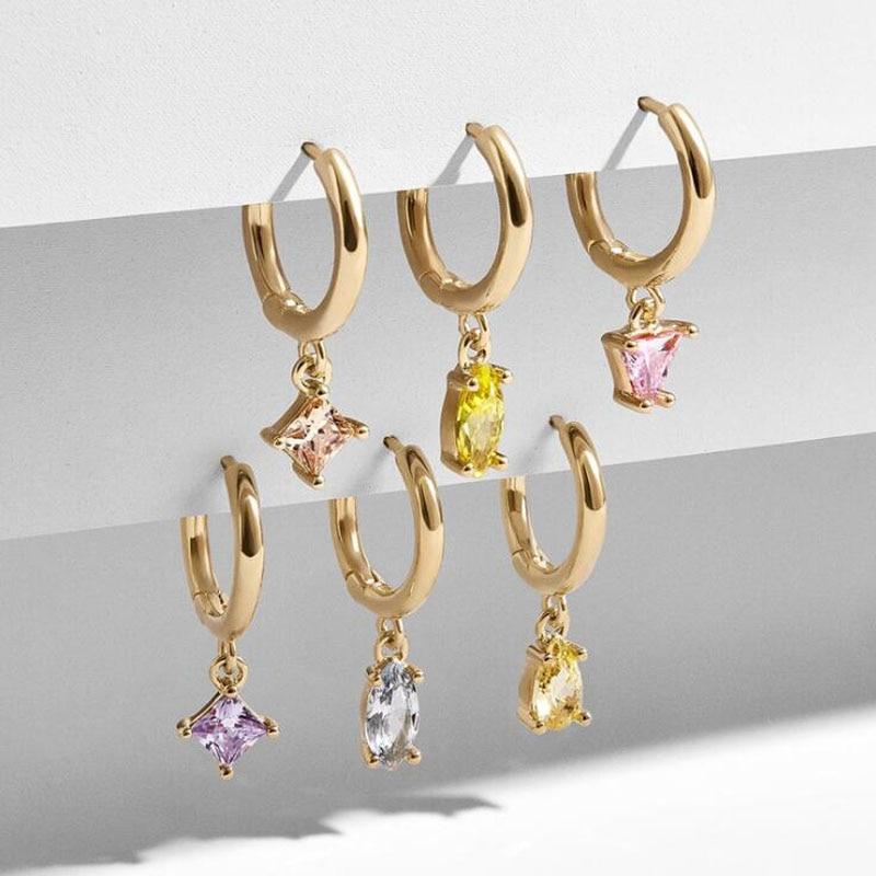 [해외]Huidang 골드 도금 합금 금속 귀 커프 세트 huggie 후프 귀걸이 새로운 디자인/Huidang 골드 도금 합금 금속 귀 커프 세트 huggie 후프 귀걸이 새로운 디자인