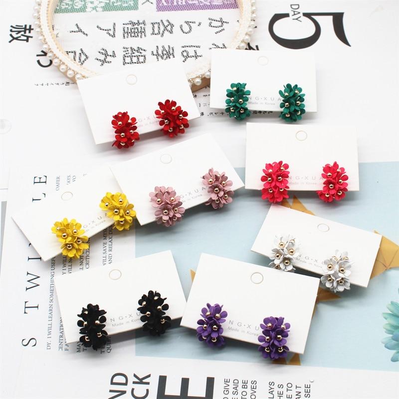 [해외]2019 새로운 디자인 브랜드 패션 현대 여성의 보석 금속 작은 후프 귀걸이 귀여운 꽃 귀걸이 여름 스타일 귀걸이/2019 새로운 디자인 브랜드 패션 현대 여성의 보석 금속 작은 후프 귀걸이 귀여운 꽃 귀걸이 여름 스타일 귀걸이