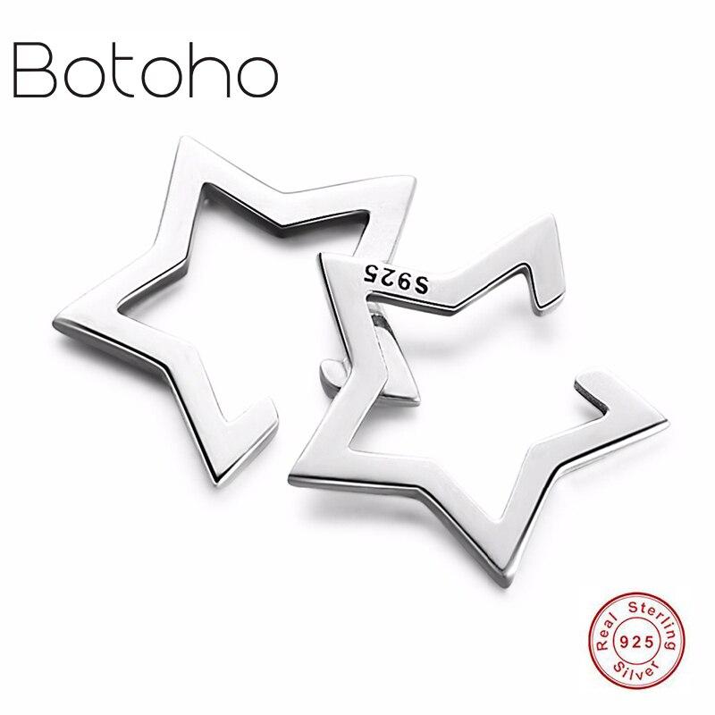 [해외]925 silver earings fashion jewelry 2018 Cute Pentagram Star Clip Earrings 925 Sterling Silver Statement Classic Simple Earrings /925 silver earing