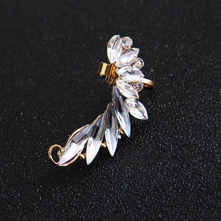 [해외]2018 Fashion Women Rhinestone Creative Angel wings earrings Crystal clip earrings unilateral ear clips girl Jewelry/2018 Fashion Women Rhinestone