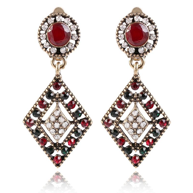 [해외]MIARA.L Clip Earrings Female Retro Alloy Hollow-out Geometric Earrings Accessories for Ladies /MIARA.L Clip Earrings Female Retro Alloy Hollow-out