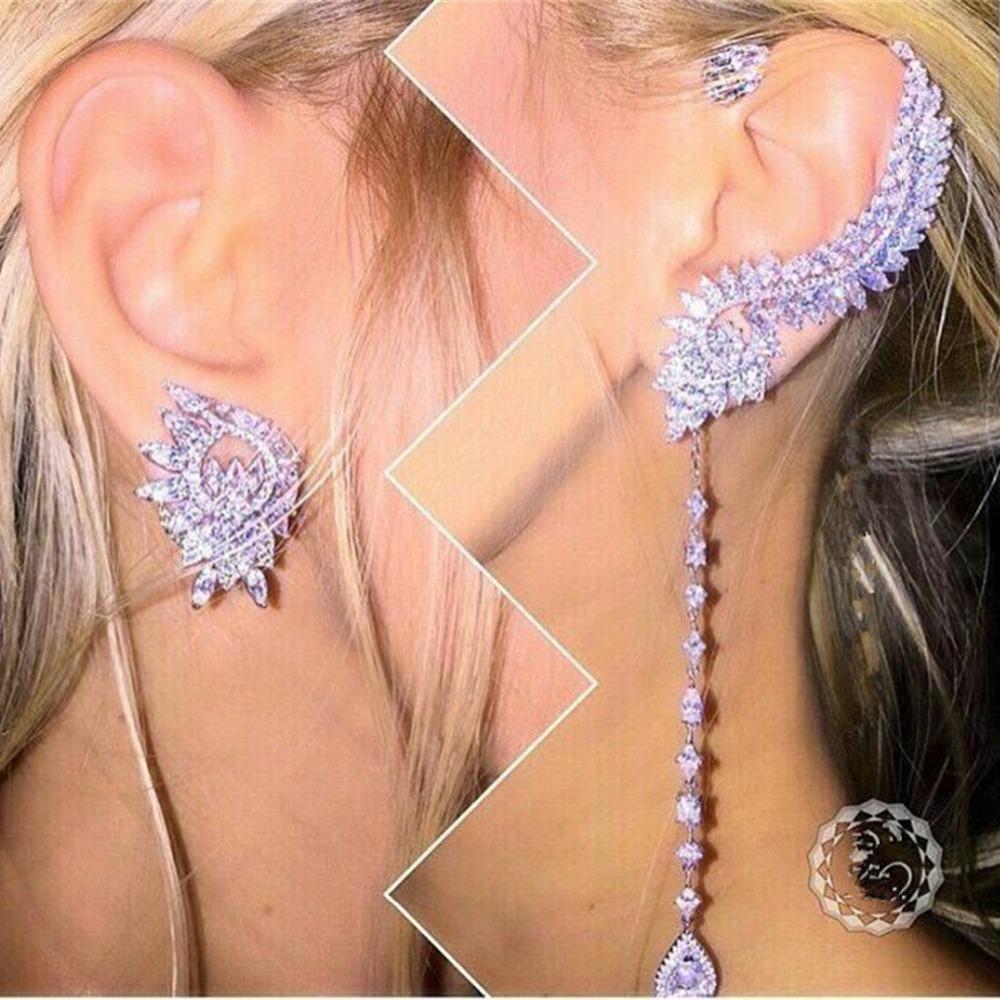 [해외]XB231 Luxury Designer Fashion 925 Sterling Silver shinning European style Jewelry leaves shaped wedding party  bz/XB231 Luxury Designer Fashion 92