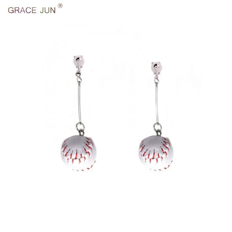[해외]GRACE JUN 10 Colors Available Basketball Football Baseball Tennis Sport Style Clip on Earrings on Pierced for Women Cuff Earring/GRACE JUN 10 Colo